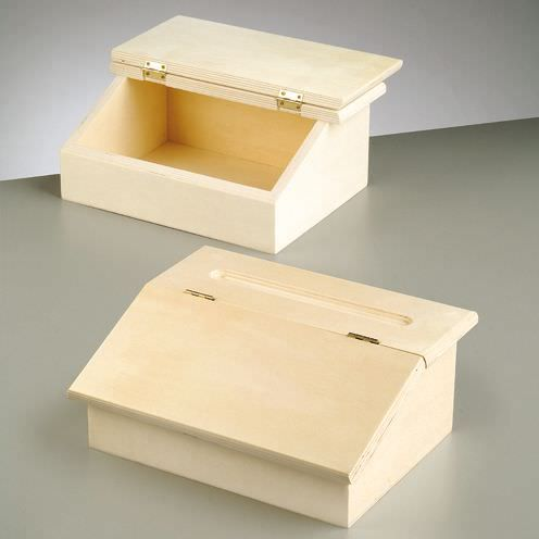 Holzpodestbox, 24.5 x 20.2 x 10 cm, roh